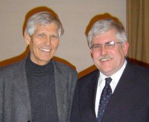 Foto: MdB Gert Weisskirchen und Landtagskandidat Peter Wirkner